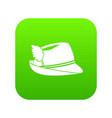 irish hat icon digital green vector image vector image