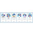mobile app onboarding screens video recipe vector image