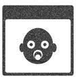 Newborn Head Calendar Page Grainy Texture Icon vector image vector image