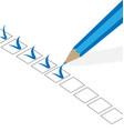 organized checklist vector image