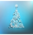 Paper christmas tree made from snowflakes EPS 10 vector image vector image