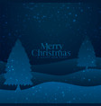 paper cut style merry christmas tree background vector image