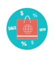 Paper shopping bag icon Business concept vector image vector image