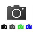 photo camera flat gradient icon vector image vector image