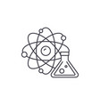 physics and chemistry line icon concept physics vector image vector image