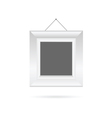 picture frame in white color vector image