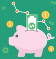 Piggy bank money and finance vector image vector image