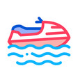 powerboat icon outline vector image