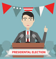 presidential election composition with flat design vector image vector image