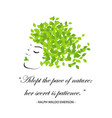 quotes for nature vector image vector image