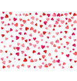 red flying hearts bright love passion background vector image
