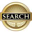 search gold icon vector image vector image