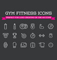 set fitness aerobics gym elements and fitness vector image