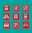 set of information icons Flat vector image vector image