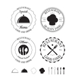 Set of restaurant logos labels vector image