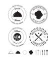 Set of restaurant logos labels vector image vector image