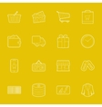Shopping thin lines icons set vector image vector image