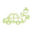 silhouette car transportation with power cable and vector image