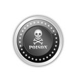 skull and crossbones poison icon or badge vector image