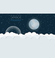 space poster with clouds stars and planets vector image vector image