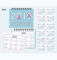 spiral spanish desk calendar year 2019 2020 with vector image vector image