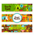 summer adventure banners set vector image vector image