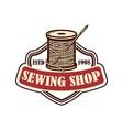 tailor shop emblem template design element for vector image vector image