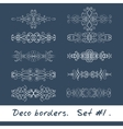 Ten decorative borders in white color Set 1 vector image