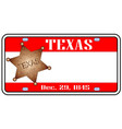 texas plate vector image vector image