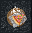 the pepperoni pizza slice with background vector image vector image