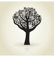 Tree phone vector image vector image