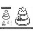 wedding cake line icon vector image vector image