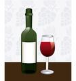wine concept vector image vector image