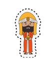 wise man manger character vector image vector image
