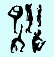 fitness attractive girl sport silhouette