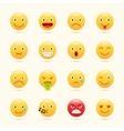 Emoticons set yellow website emoticons vector image
