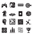 game puzzle dice maze jigsaw slot machine icons vector image