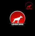 dog logo abstract design template dog silhouette vector image