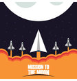 421mission to the moonpaperVS vector image vector image