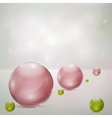 Abstract background with glass spheres vector image