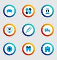 antibiotic icons colored set with medic cap nurse vector image vector image