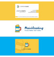 beautiful beer glass logo and business card vector image vector image