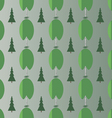 Birch and spruce vector image