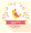 bird flat wreath vector image