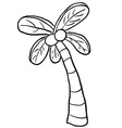black and white palm tree vector image
