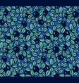 blueberry seamless hand drawn pattern vector image