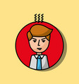businessman portrait character angry gesture vector image