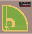 cartoon baseball field batting design vector image