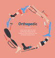 cartoon orthopedic banner card vector image vector image