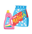 cartoon washing powder laundry powder vector image